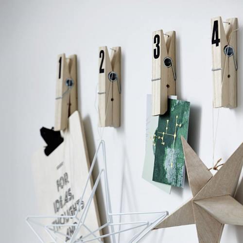 10 manualidades con pinzas de madera para decorar tu casa - Como decorar una pared con madera ...