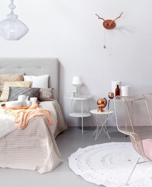 Lámparas de color cobre y otras piezas para decoracion vintage 11