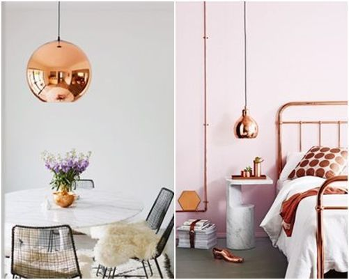 Lámparas de color cobre y otras piezas para decoracion vintage 5
