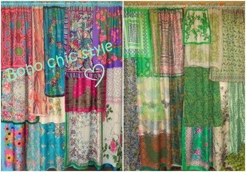 Hacer cortinas originales con pañuelos estilo boho chic 1