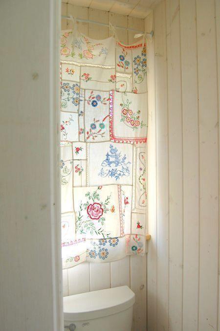 Hacer cortinas originales con pa uelos estilo boho chic - Cortinas estilo vintage ...