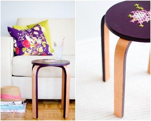 Transformar muebles Ikea ideas para tunear el taburete Frosta 13