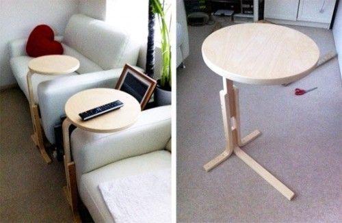 Transformar muebles ikea ideas para tunear el taburete frosta decomanitas - Mesita auxiliar ikea ...
