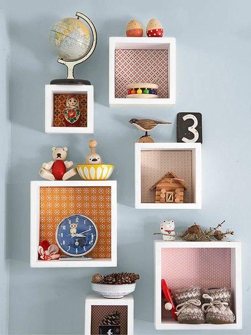 15 ideas para decorar cajas de madera y tunearlas en estanterías 3
