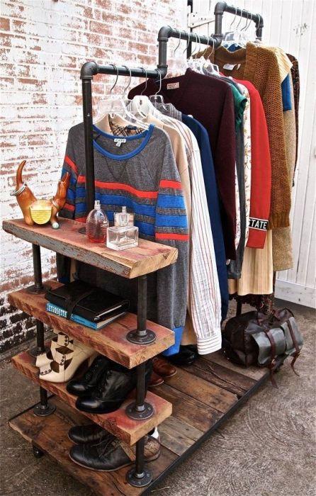 Burros para ropa los percheros a la vista 'rompen' en decoración... 1