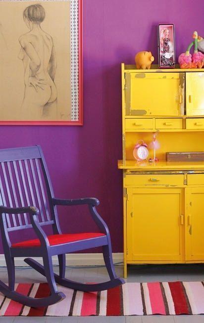 20 ideas para pintar muebles de madera antiguos a todo color ... 5985a458e3cb