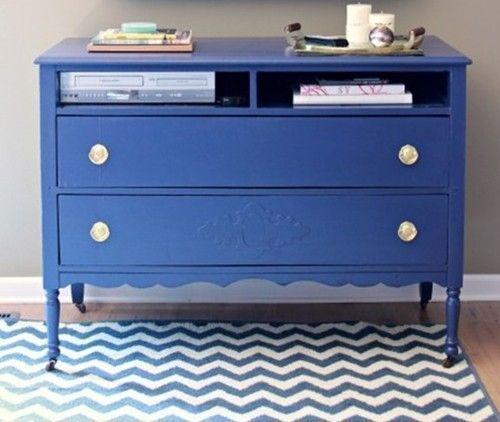 20 ideas para pintar muebles de madera antiguos a todo - Reciclado de muebles viejos ...