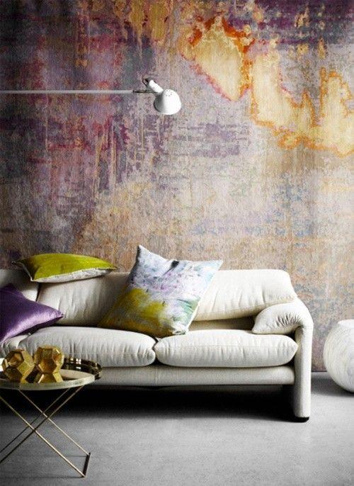 Ideas para pintar una casa paredes vintage efecto desgastado 1