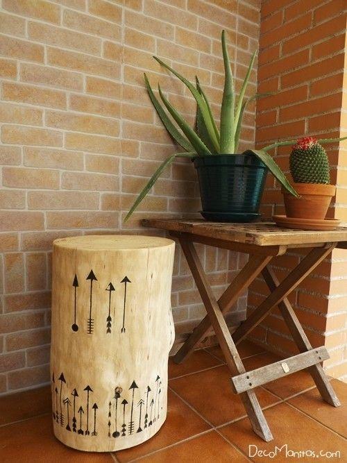 Tendencia naturalista personalizar muebles en crudo con stencil 9