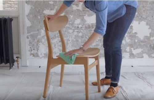 DIY efecto dip pintar muebles con las patas sumergidas... 10