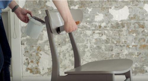 DIY efecto dip pintar muebles con las patas sumergidas... 8