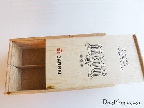 reciclar cajas de madera de vino para organizar collares y pendientes u