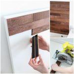 Tunear Ikea camas decoradas con láminas de madera adhesivas 1