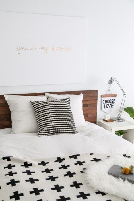 Tunear ikea camas decoradas con l minas de madera adhesivas decomanitas - Camas decoradas ...