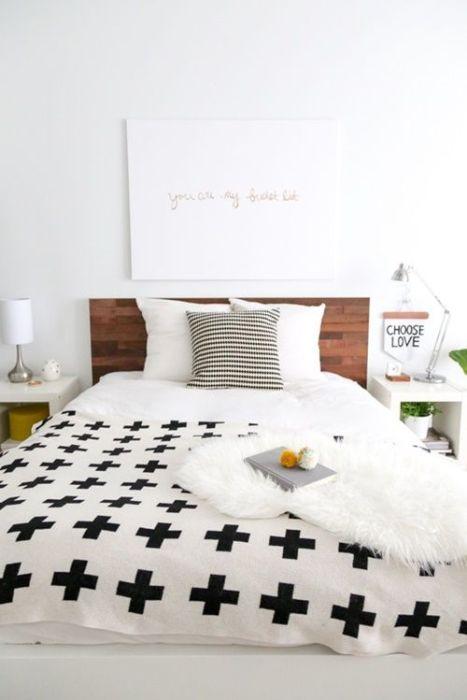 Tunear Ikea camas decoradas con láminas de madera adhesivas 3