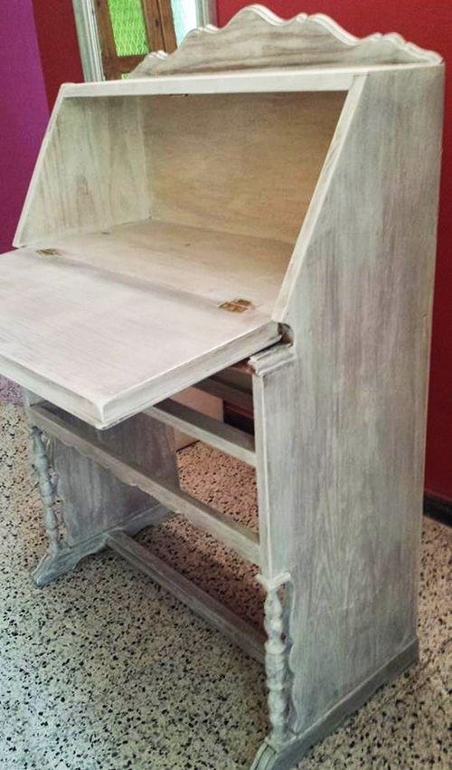 Pintar muebles con stencil el antes y el despu s - Pintar muebles viejos ...