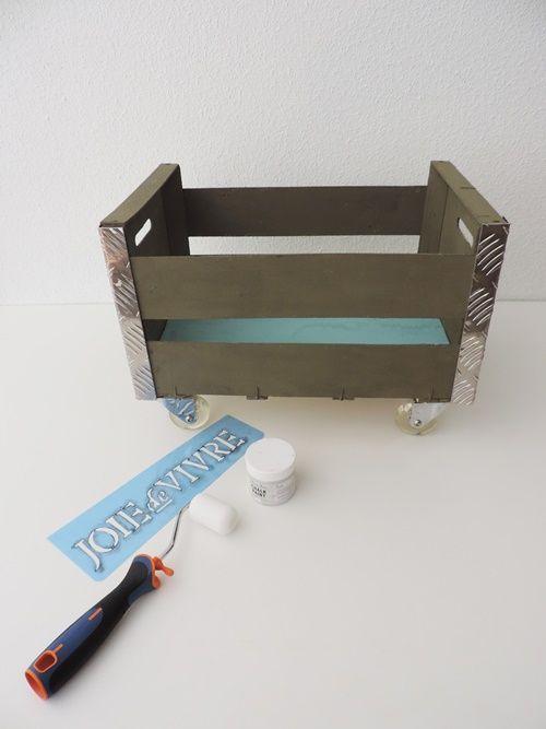 Reciclar cajas de fruta en original mueble auxiliar 5