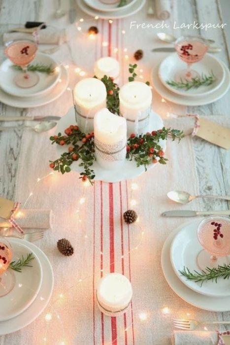 15 Ideas de decoración eco-chic para mesas de Navidad 10