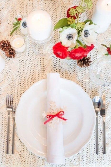 15 Ideas de decoración eco-chic para mesas de Navidad11
