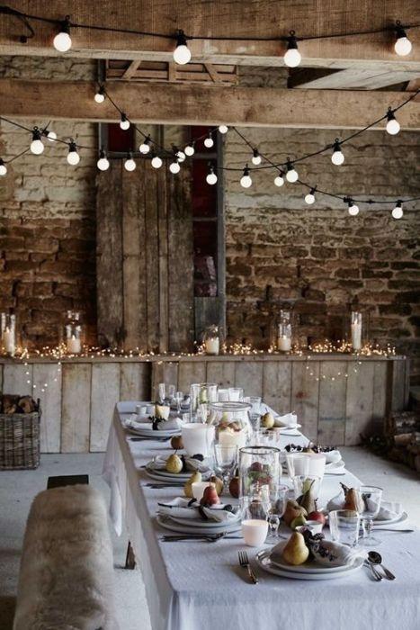 15 Ideas de decoración eco-chic para mesas de Navidad 4