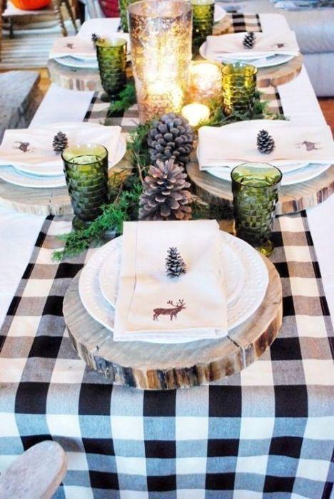 15 Ideas de decoración eco-chic para mesas de Navidad 6