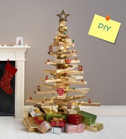 Diy decoraci n rbol de navidad original con listones de for Adornos originales para navidad