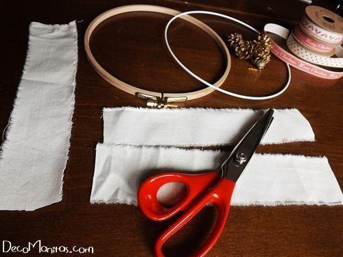 Manualidades navideñas cómo hacer una corona de Adviento DIY 2
