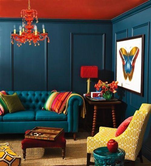 Colores para paredes intensos, y pintar la casa con drama... 16