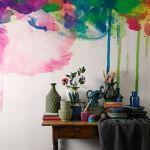 Pintar paredes de pizarra acuarela, empapelar con trampantojos qué idea 1