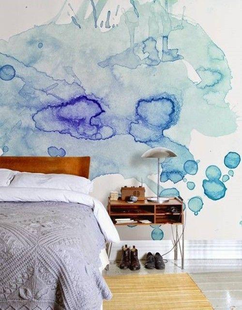 Pintar paredes efecto acuarela pizarra 3
