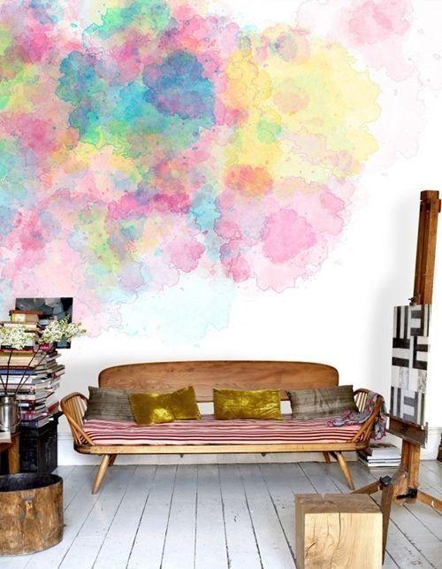 pintar paredes efecto acuarela pizarra
