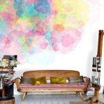 Pintar paredes de pizarra acuarela, empapelar con trampantojos qué idea 4