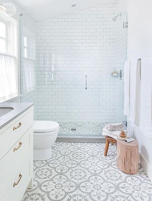 12 cuartos de baño con ducha de estilo vintage 1