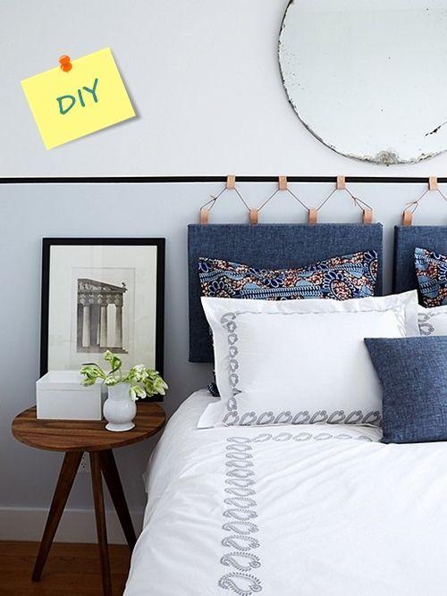 Cabeceros tapizados DIY para personalizar tu dormitorio: fácil y atractivo proyecto.