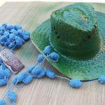 DIY con pintura en spray cómo personalizar sombreros de paja 5