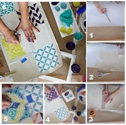 Decora tus muebles antiguos con plantillas para pintar paredes 5