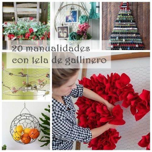 20 manualidades f ciles con malla de gallinero para - Manualidades decoracion hogar ...