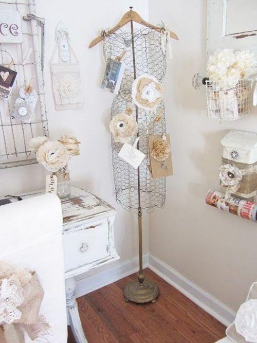 20 manualidades f ciles con malla de gallinero para decoraci n vintage decomanitas. Black Bedroom Furniture Sets. Home Design Ideas