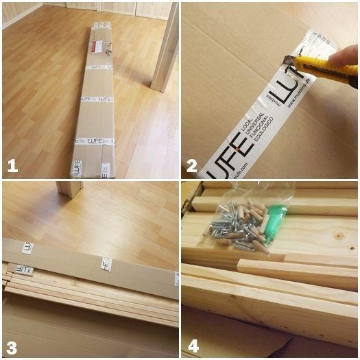 Cama de madera inspirada en los muebles con palets for Listones de madera para palets