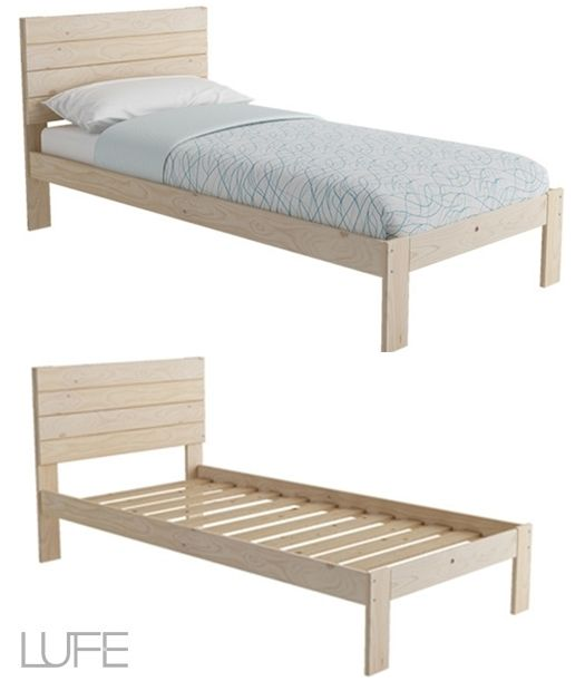 Cama de madera inspirada en los muebles con palets for Muebles de palets precio