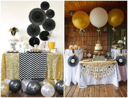 Ideas para decorar con glamour una fiesta en casa - Decoracion de cumpleanos rosa y dorado ...
