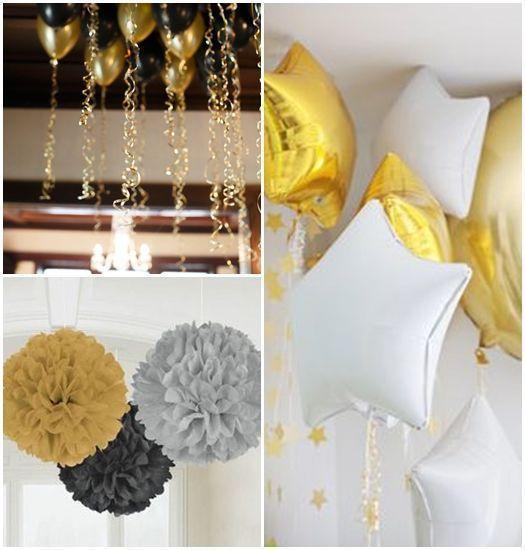 Ideas para decorar con glamour una fiesta en casa for Decoracion 31 de diciembre