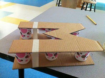 3 ideas para reciclar y decorar con cart n de cajas y - Letras decorativas para ninos ...