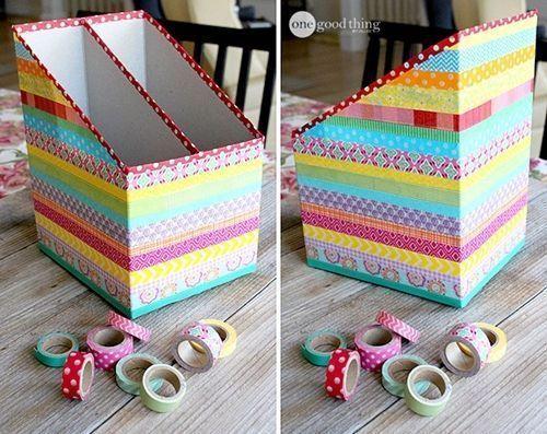 Ideas para reciclar y decorar con cart n de cajas y env os - Decorar con cajas de carton ...