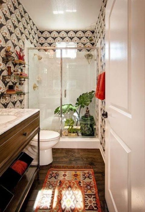 Ideas para reformar baños con plato de ducha de inspiración retro ...