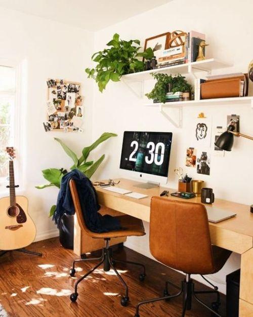 Sillas de oficina de inspiración vintage tapizadas en cuero para decorar la casa con estilo.
