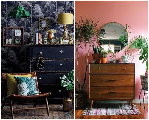Ideas decoración salón: una cómoda de decoración vintage o Mid century para resaltar un rincón.
