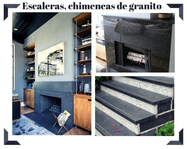 El granito es un clásico como revestimiento de chimeneas y escaleras.