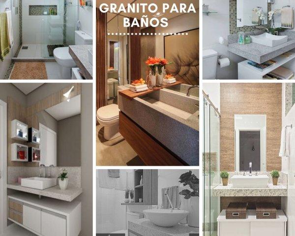 Encimeras de baño de granito: novedad en diseño interior