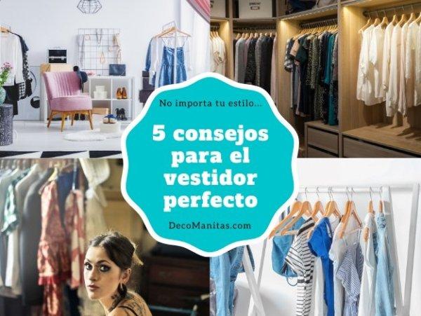 5 consejos de profesional para un vestidor abierto perfecto